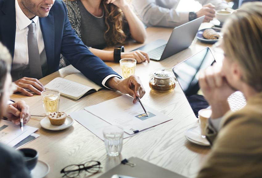 Corporate finance meeting