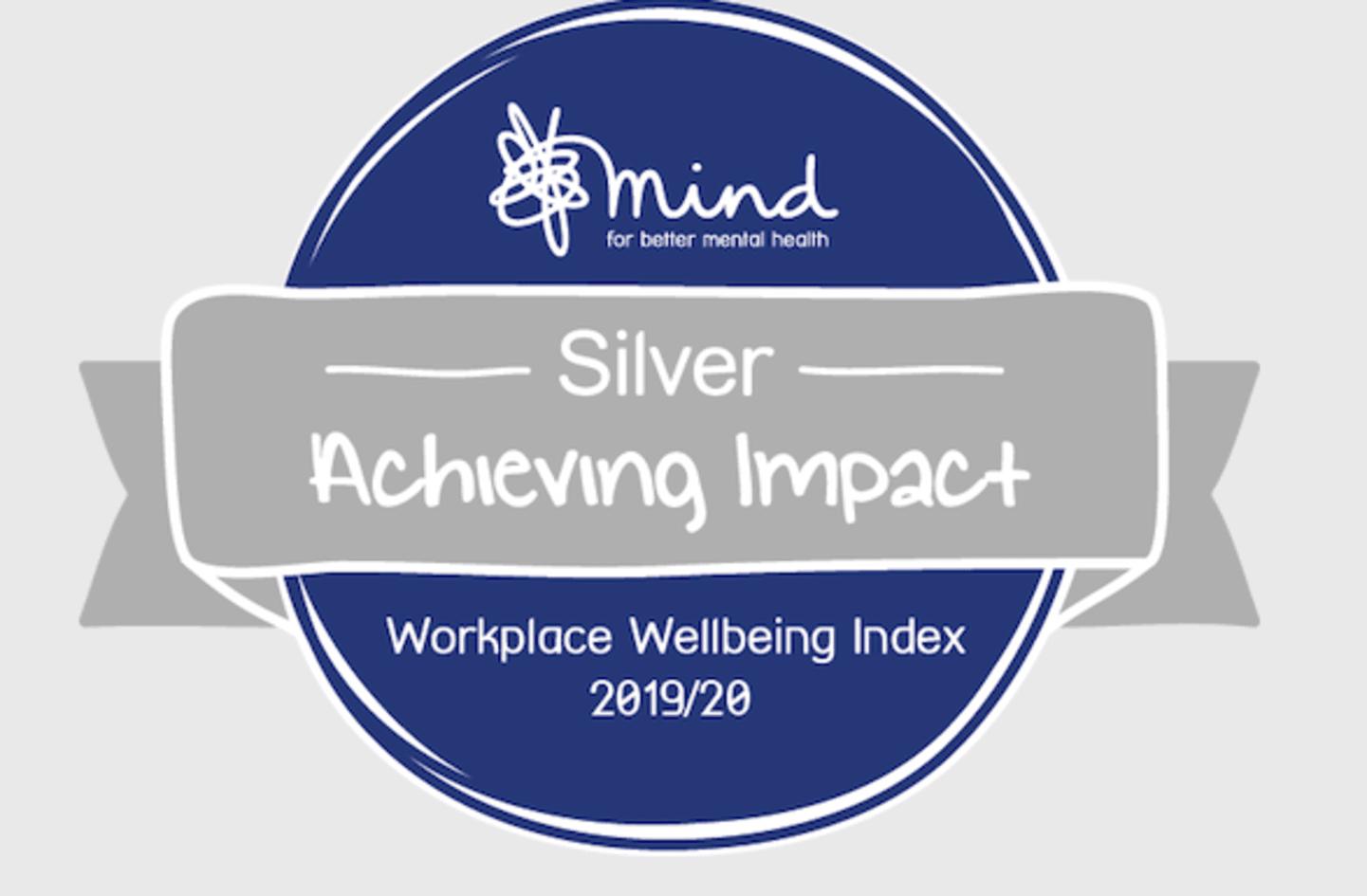 Mind logo for silver award