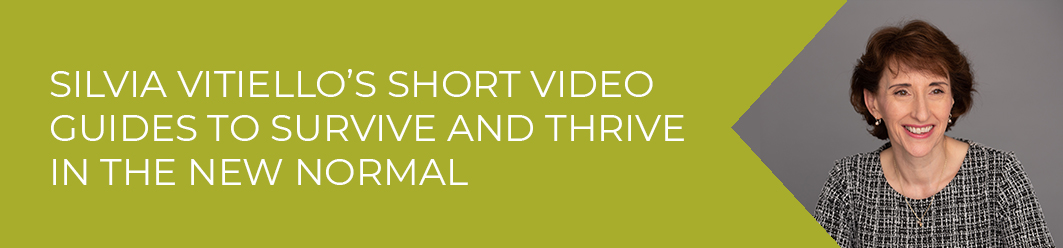 Silvia Vitiello's video guides to survive and thrive in the new normal