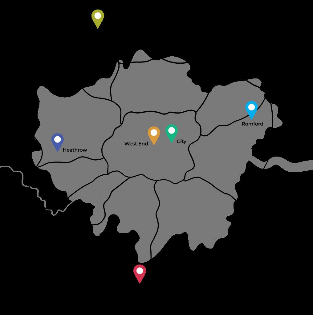 Office locations in London, UK