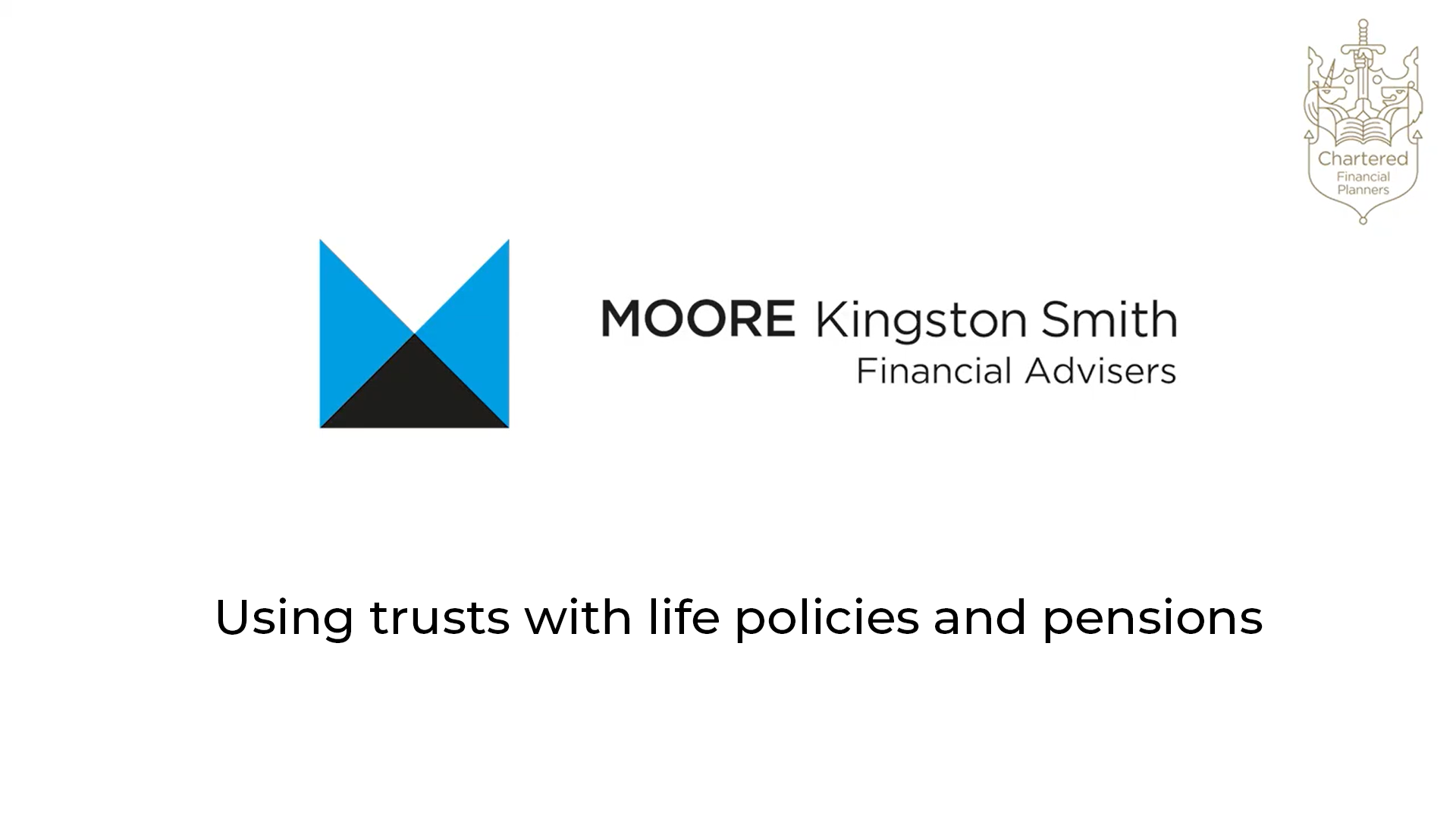 Using trusts with life policies and pensions