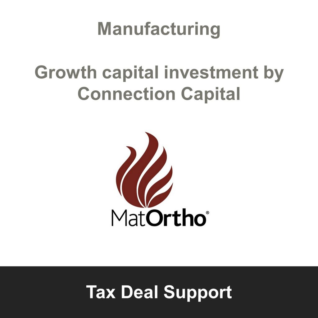 MatOrtho_Manufacturing_Tax Deal Support