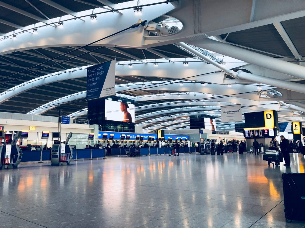 Airport departure lounge - travelling for business