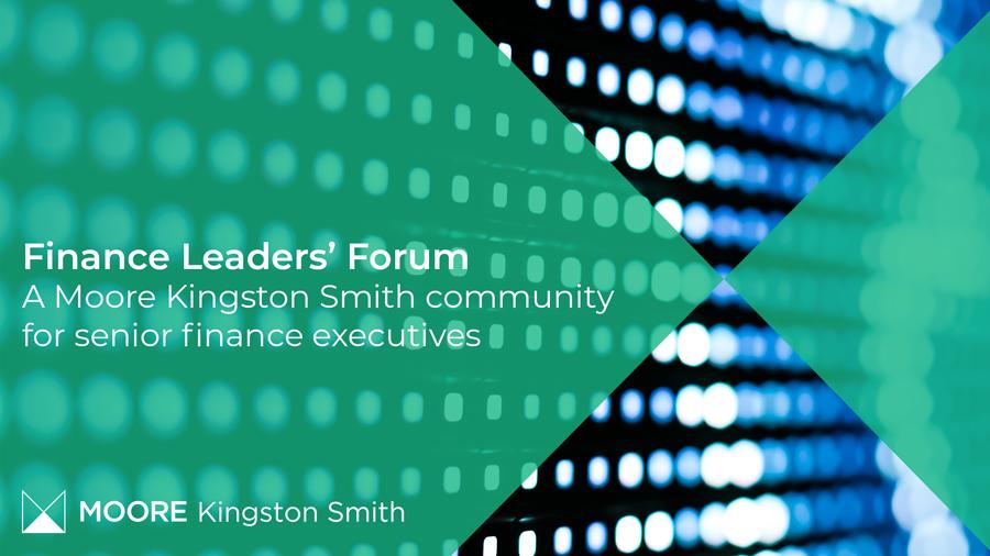Finance leaders' forum banner for senior executives